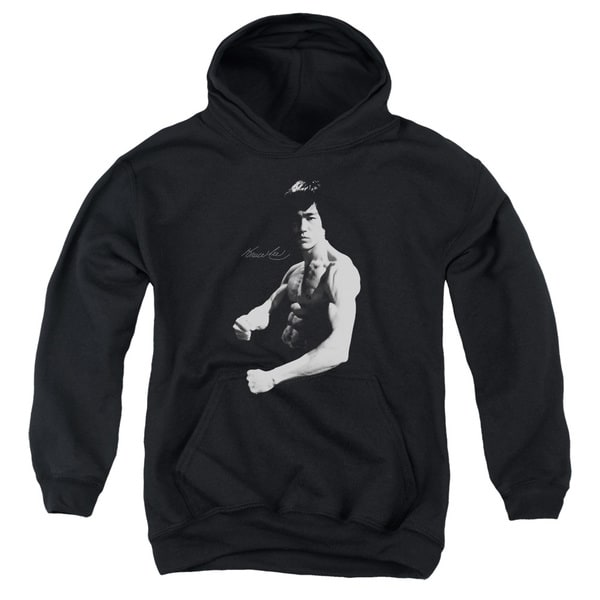 Bruce Lee/Stance Youth Pull-Over Hoodie in Black