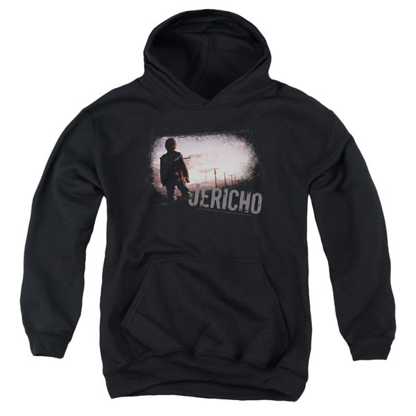 Jericho/Mushroom Cloud Youth Pull-Over Hoodie in Black