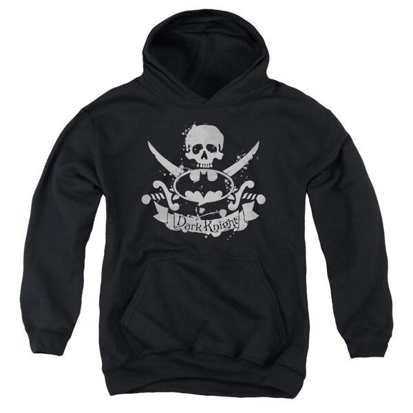 Batman/Dark Pirate Youth Pull-Over Hoodie in Black