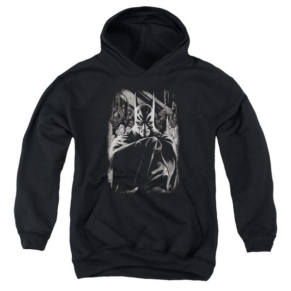 Batman/Detective 821 Cover Youth Pull-Over Hoodie in Black