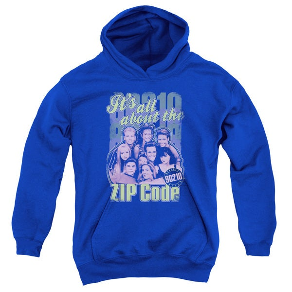 90210/Zip Code Youth Pull-Over Hoodie in Royal