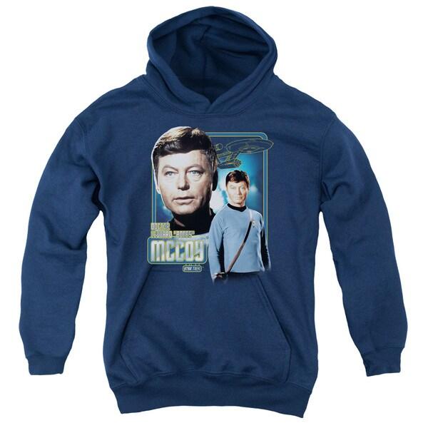 Star Trek/Doctor Mccoy Youth Pull-Over Hoodie in Navy