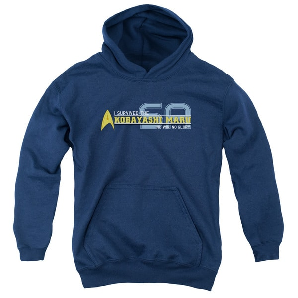 Star Trek/I Survived Youth Pull-Over Hoodie in Navy