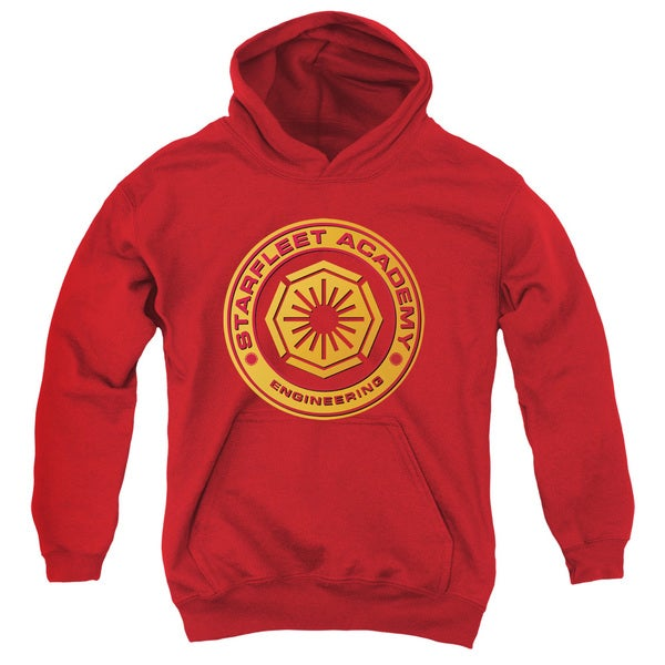 Star Trek/Engineering Youth Pull-Over Hoodie in Red