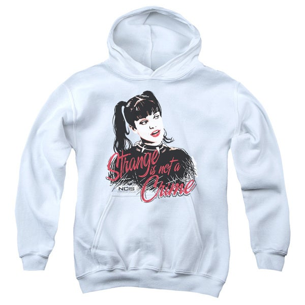 Ncis/Strange Is Not A Crime Youth Pull-Over Hoodie in White
