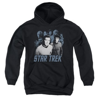 Star Trek/Kirk Spock and Company Youth Pull-Over Hoodie in Black