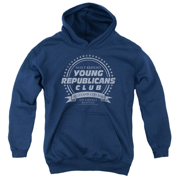 Family Ties/Young Republicans Club Youth Pull-Over Hoodie in Navy