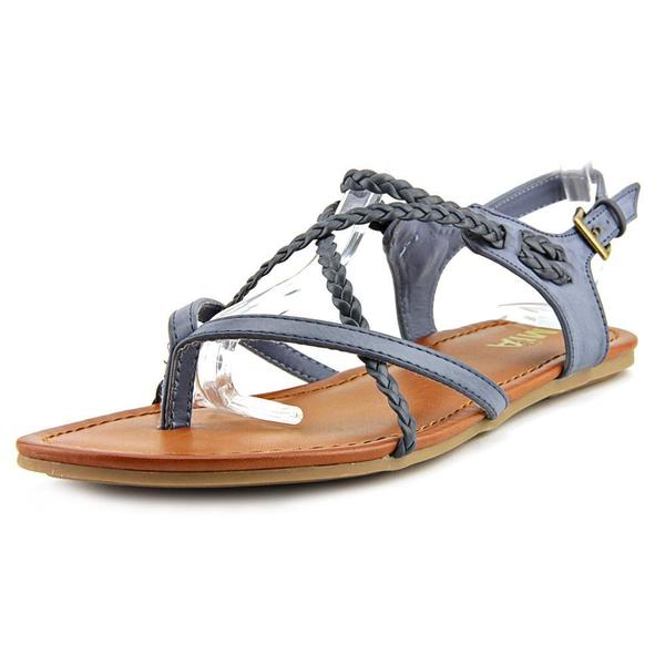 Mia Girl Women's Adrianna Blue Faux-leather Sandals 18760304