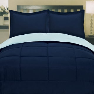 Two-tone Reversible Down Alternative Box Stitch Comforter
