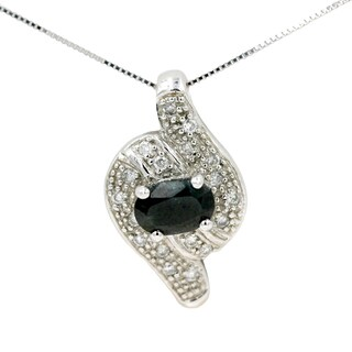 14K White Gold 1/5ct TDW Mother of Pearl and Diamond Fashion Pendant (G-H, I1)
