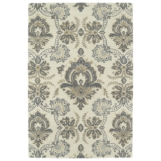 Hand-Tufted Seldon Ivory Damask Rug (9'0 x 12'0)