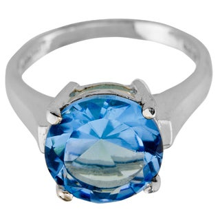 Haven Park Blue Topaz Solitaire