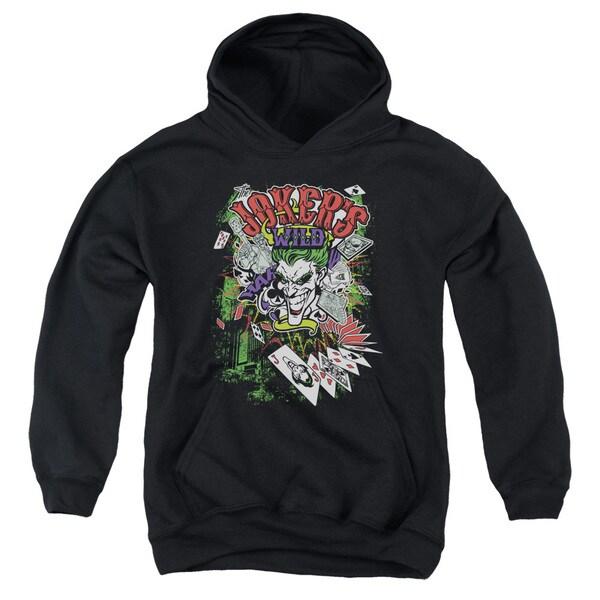 Batman/Jokers Wild Youth Pull-Over Hoodie in Black