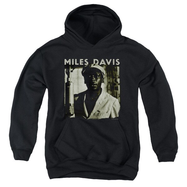 Concord Music/Miles Portrait Youth Pull-Over Hoodie in Black