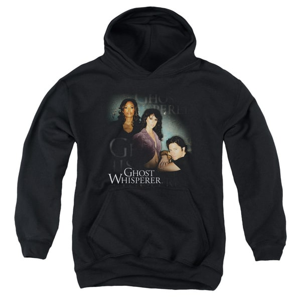 Ghost Whisperer/Diagonal Cast Youth Pull-Over Hoodie in Black