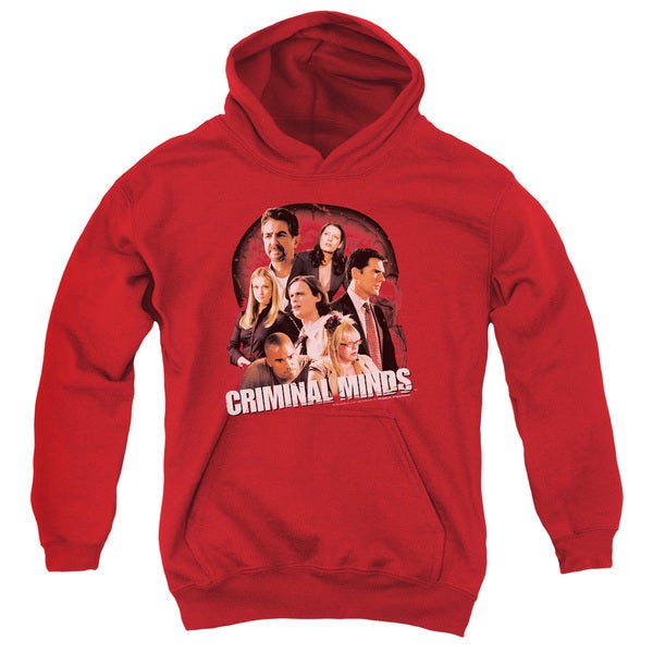 Criminal Minds/Brain Trust Youth Pull-Over Hoodie in Red