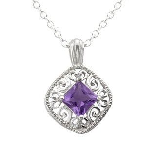 Haven Park Filigree and Amethyst Pendant Necklace