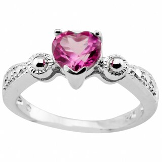 Haven Park Pink Heart Shape Solitaire Ring