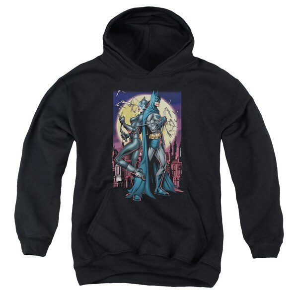Batman/Paint The Town Red Youth Pull-Over Hoodie in Black