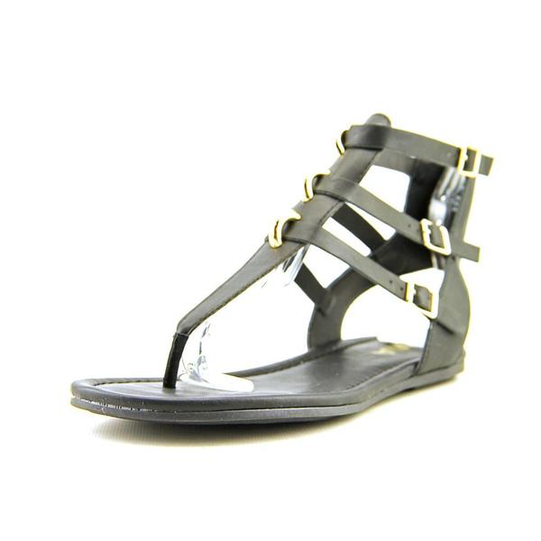 Mia Women's Barbados Black Faux Leather Sandals