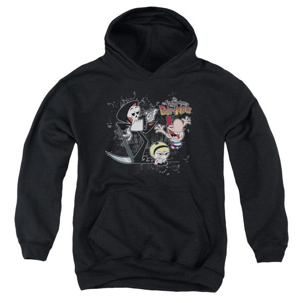 Billy & Mandy/Splatter Cast Youth Pull-Over Hoodie in Black