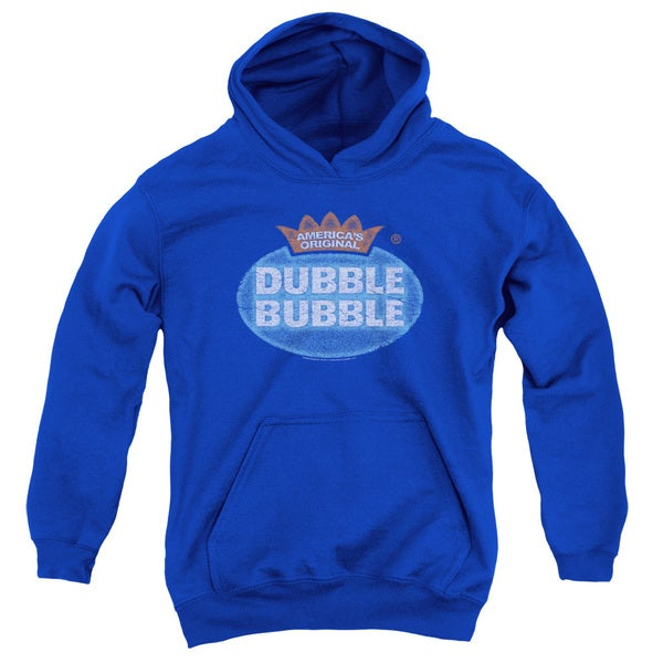 Dubble Bubble/Vintage Logo Youth Pull-Over Hoodie in Royal