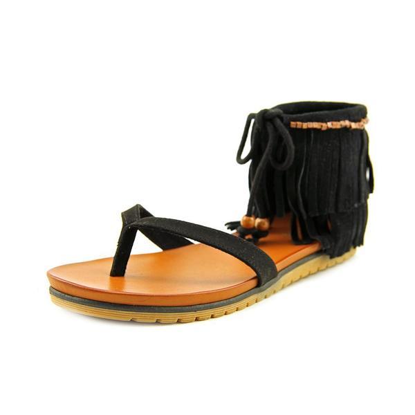 Mia Women's Native Black Leather Sandals