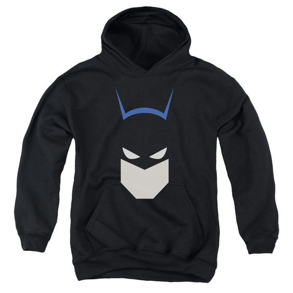 Batman/ Bat Head Youth Pull-Over Hoodie in Black