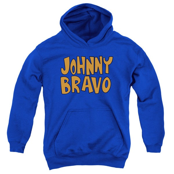 Johnny Bravo/Jb Logo Youth Pull-Over Hoodie in Royal