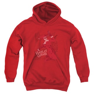 Batman/Harley's Packing Youth Pull-Over Hoodie in Red