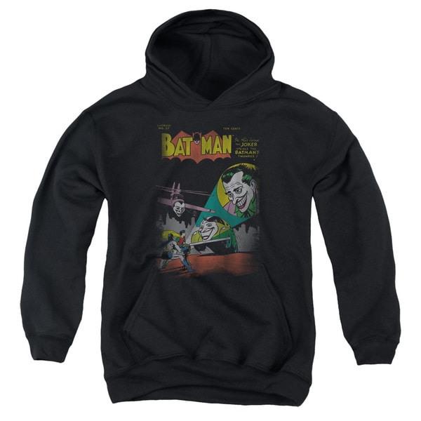 DC/Wrong Signal Youth Pull-Over Hoodie in Black