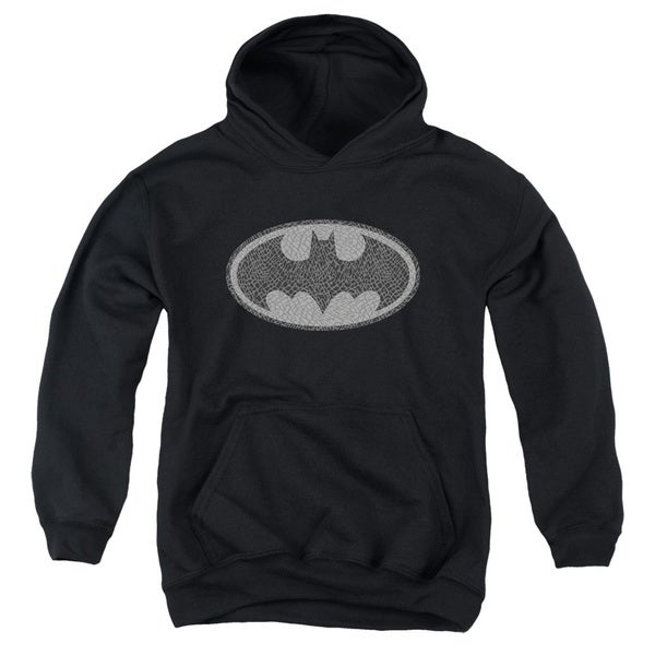 Batman/Elephant Signal Youth Pull-Over Hoodie in Black
