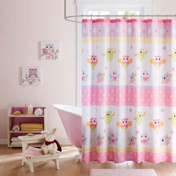 Mi Zone Kids Beaked Betty Pink Printed Shower Curtain