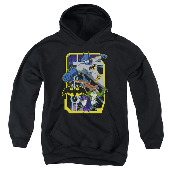 Batman Unlimited/Unlimited Villains Youth Pull-Over Hoodie in Black