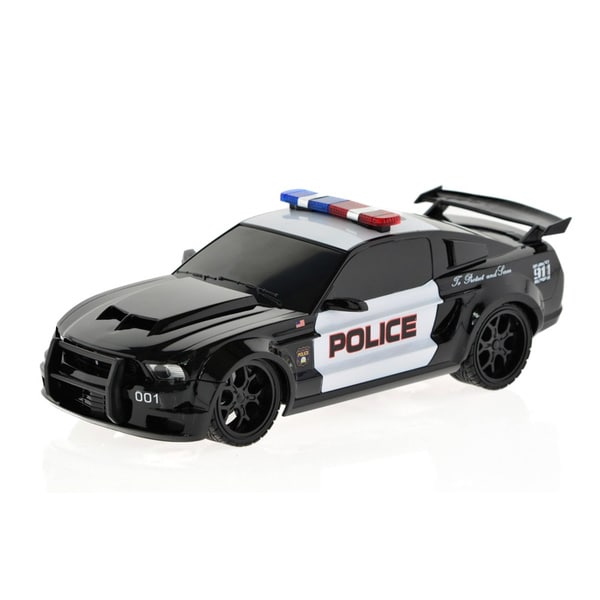 Ford Mustang Remote-controlled Black Police Car