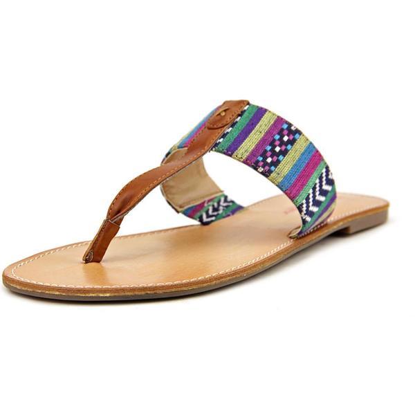 Pink & Pepper Women's 'Noah' Multi-color Textile Low-heel Sandals