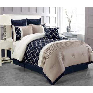 Central Park Taupe 7-piece Comforter Set