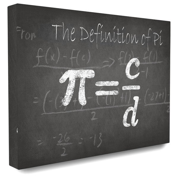 'The Definition of Pi' Stretched Canvas Wall Art