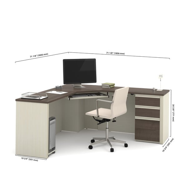 Bestar Prestige + Corner Desk including one pedestal