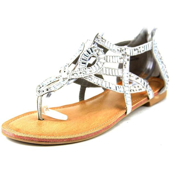 Not Rated Women's Coast Blvd Grey Synthetic Sandals