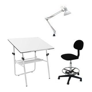 Offex White Height Adjustable 3-piece Studio Set