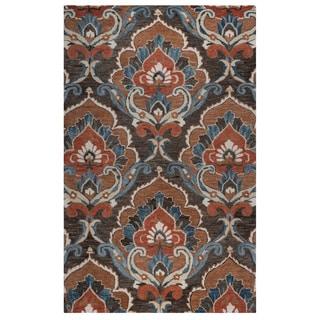 Rizzy Home Mocha Leone Collection Ornamental Accent Rug (2' x 3')