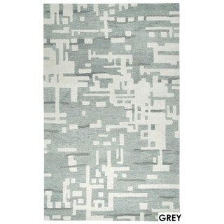 Rizzy Home Grey Leone Collection Abstract Accent Rug (2' x 3')