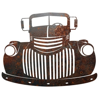 Rustic Metal Old Truck Sign' Wall Decor