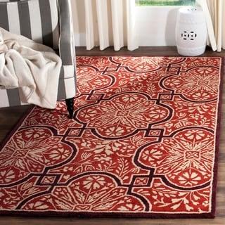 Safavieh Handmade Martha Stewart Collection Vermillon Wool Rug (9' x 12')
