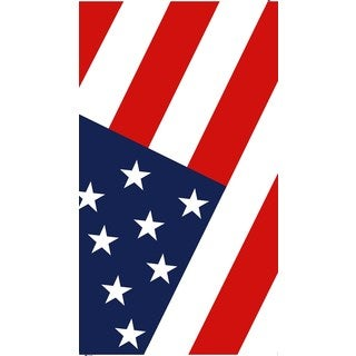 Red/White/Blue Cotton 30-inch x 60-inch American Flag Beach Towel