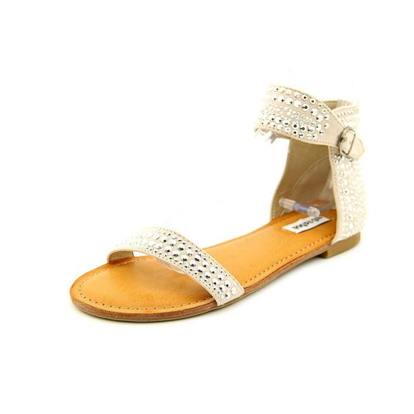 Women's Snow Drop Tan Fabric Ankle Strap Sandals