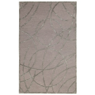 Rizzy Home Tan Monroe Collection Hand-Sheared Transitional Area Rug (3 x 5)