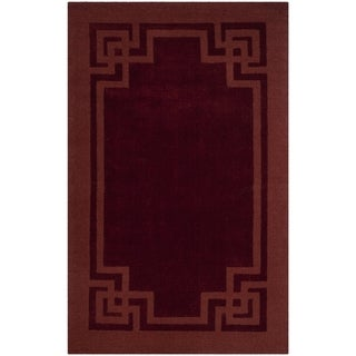 Safavieh Handmade Martha Stewart Collection Vermillon Wool Rug (9' x 12')