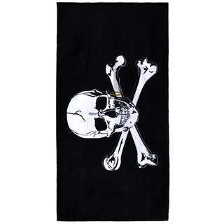 Jolly Roger Cotton 30-inch x 60-inch Beach Towel